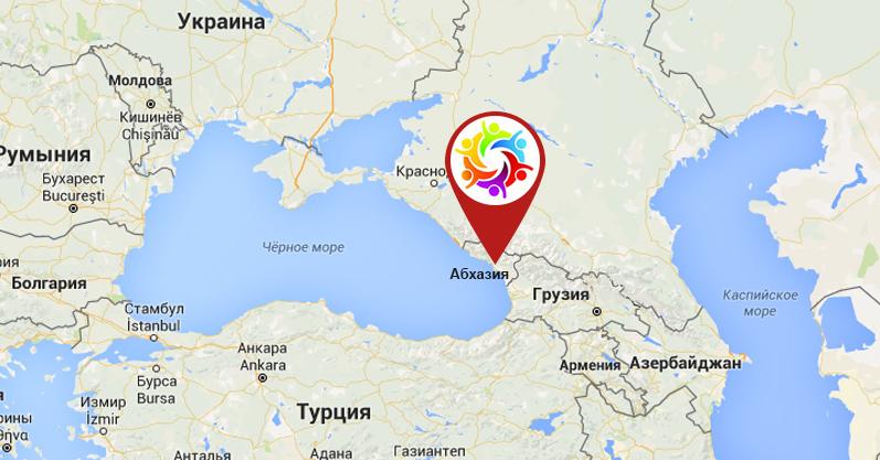 Teams - Abkhazia map black sea